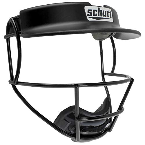 Schutt Sports Titanium V2 Softball Fielder's Guard Varsity Faceguard with Visor, Black