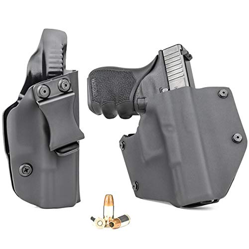 R&R Holsters OWB & IWB Combo Pack - Black (Right-Hand, Fits...