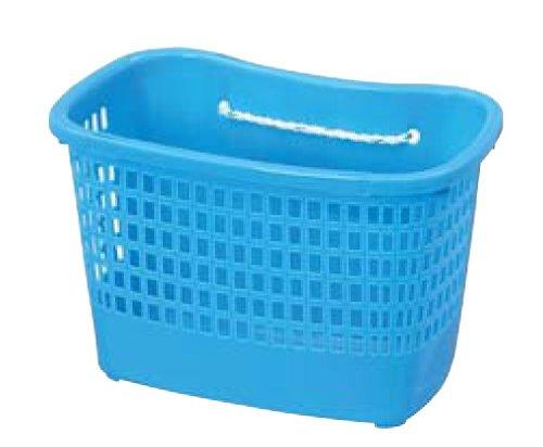 ニチエイ 苗カゴ 小 ロープ付 ブルー 340×202×222Hmm 301542