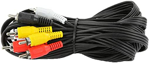 NavePoint 4-RCA Male to 4-RCA Male Audio Video Component Cable for HDTV, DVD, VCR, DVR 12 Ft