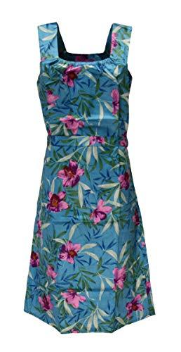 Sommerkleid Kleid Hauskleid Gartenkleid Strandkleid Satin, Größe:42, Design:Design 2