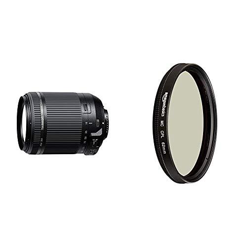 Tamron B018N 18-200mm F3.5-6.3 Di II VC Nikon & AmazonBasics Zirkularer Polarisationsfilter - 62mm