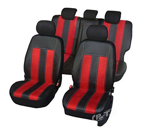 Nieuwe serie - GT universele stoelhoezen compatibel met Ford Fiesta vanaf 2017 MK7 eenvoudige montage één set hoezen GT Speed