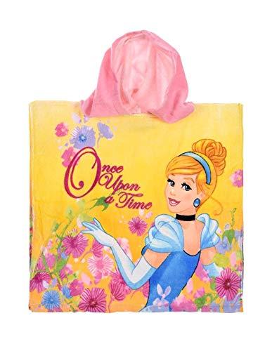 Cape de Bain Capuche Enfant Fille Princesses Disney Jaune et Violet TU (2-6ans) - Jaune, Taille Unique