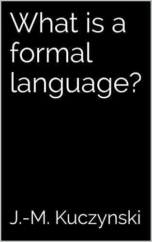 What is a formal language?