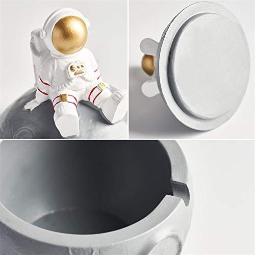Phjkifd Cenicero Resina nórdica Astronauta Modelo Ashtray Moderno Casa Decoración Accesorios Oficina Escritorio Decorativo Productos para el hogar (Color : 13cm Astronaut B)