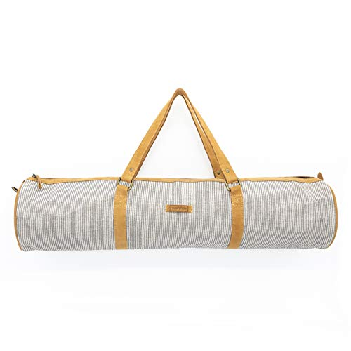 "Woven Fairtrade Yogatasche ""Lea Yoga Bag"" Yogamattentasche handmade in Nepal by Women's Skills Development Organization (WSDO)"