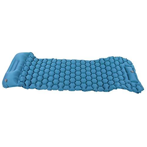 Cojín Inflable, colchoneta para Dormir portátil Resistente al desgarro, tamaño pequeño para Tiendas de campaña y hamacas para Acampar al Aire(Peacock Blue)