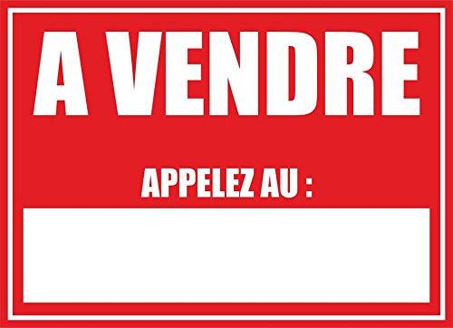 Akachafactory Autocollant Sticker Panneau Maison a Vendre Vinyle Appartement