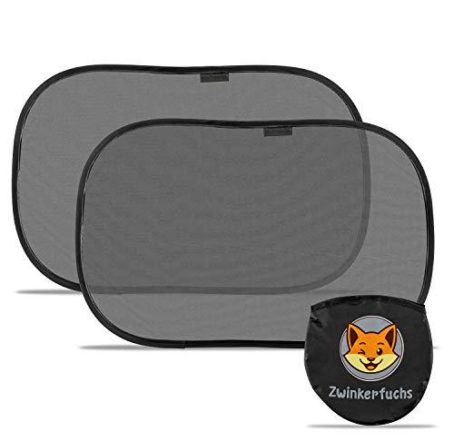 Sonnenschutz Auto Baby mit UV Schutz – Selbsthaftende Sonnenblende Auto Baby - 48x30 cm – Zwei Autosonnenblenden inkl. Tasche – Auto Sonnenschutz Baby (2 Stück) - Sonnenschutz Auto Kinder