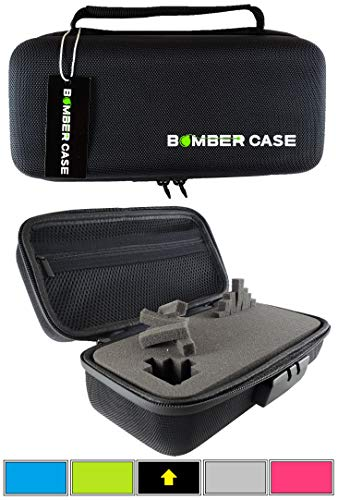 BOMBER CASE - Locking - Smell Proof - Customizable Pick and Pluck Foam - Stash Case with Odor Proof Combination Lock Sealed Zipper - Black
