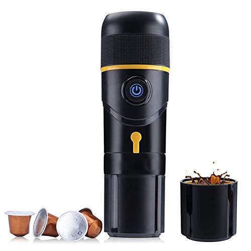 Voiture Cafetière Portable Machine à café électrique avec un bouton Opération cadeau parfait pour la maison, Plein air et Bureau