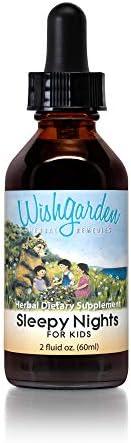 WishGarden Herbs Sleepy Nights for Kids Herbal Sleep Aid Tincture Organic Sleep Supplement Supports product image