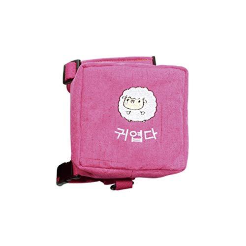 FA.cbj3 Harness Dog Backpack, Pet Cat Puppy Travel Hiking Camping Trainging Saddle Bag, Adjustable Lightweight. (Hot Pink)