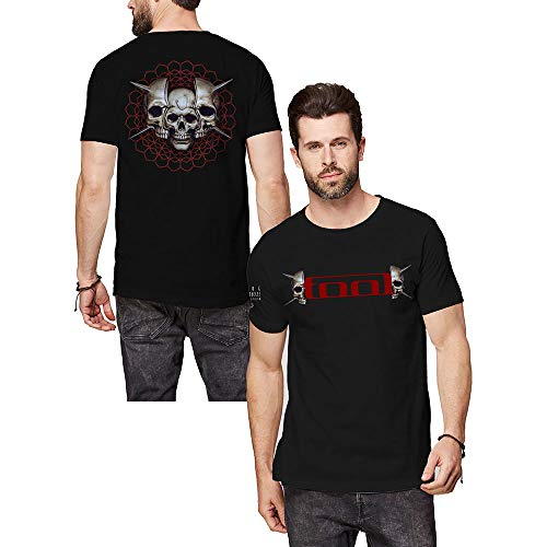 T-Shirt # Xxl Unisex Black # Skull Spikes