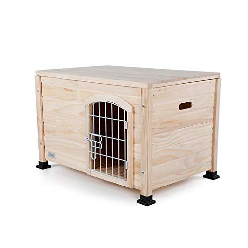 CWYSJ - Caseta para Perros de Madera Maciza para Exterior/Interior para Perros/casa de Mascotas Jardín, Techo Abierto para fácil Limpieza, Resistente a la Intemperie, Cuatro Estaciones Disponibles