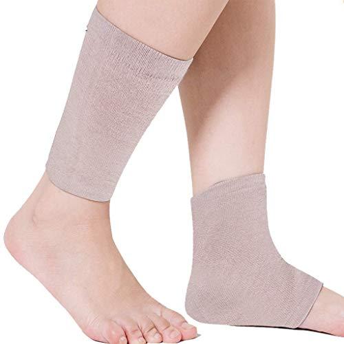enkelbeschermer, warme sokken, gevoerd, met kijkvenster, 2 verpakkingen, ademend, voor lang gebruik, verlicht