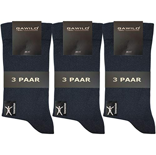 9 Paar Damen Venensocken – Socken ohne Gummi – ohne drückende Naht - Komfortbund (35-38, blau)