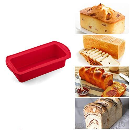 Hereb Brotbackform aus Silikon, antihaftbeschichtet, für hausgemachtes Brot, Kuchen rot