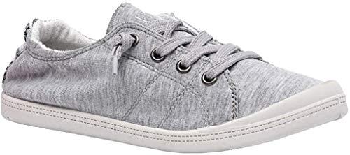 Dunes Sport Women's Reesa Canvas Sneaker, Grey, 7.5