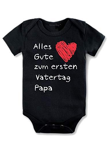 BesserBay Baby Jungen Body - Erster Vater Schwarz 9-12M
