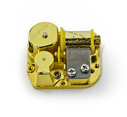 18 Note Mechanical Movement Music Box Component with Winding Key – DIY Custom Music Box Mechanism, Music Box Parts – Choose Your own Song