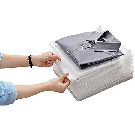 Baffect Organizador Plegable del Armario y Carpeta de la Camisa, Sistema de 5 Organizador de la Ropa Organizador del Armario del almacenaje Cajón para ...