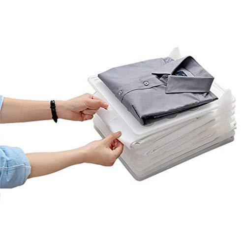 Baffect Organizador Plegable del Armario y Carpeta de la Camisa, Sistema de 5 Organizador de la Ropa Organizador del Armario del almacenaje Cajón para Las Camisetas Camisa de los suéteres Ropa (s)