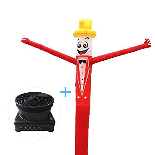 WCY Sky Dancer Aufblasbare Puppen Air Mann, 20 ft Tänzer Komplett-Set mit 1 PS Low Noise Lüfter, gebraucht bei Sporting, Veranstaltungen, oder Versammlungen yqaae (Size : 20ft/6m)
