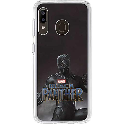 Skinit Clear Phone Case for Galaxy A20 - Officially Licensed Marvel/Disney Black Panther Ready for Battle Design