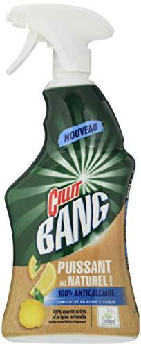 Cillit Bang Spray Ecolabel Anticalcaire Nettoyant Puissant au Naturel Acide Citrique 750 ml