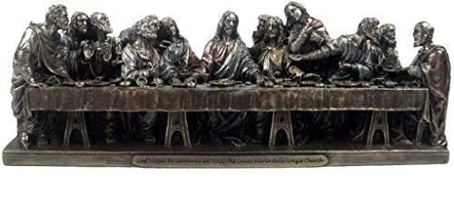 Osiris Trading UK Jesus Christus Das letzte Abendmahl, Bronzefigur, inspiriert von Leonardo Da Vinci Gemälde, religiöse Skulptur