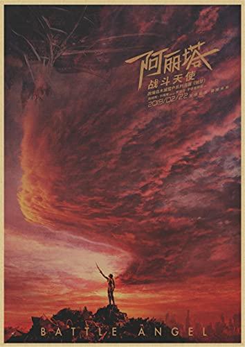 Yiwuyishi Alita Battle Angel Film Peinture Alita Anime Core Image Chambre Canapé Salon Mur Art Home Decor Toile Affiches 50x70cm (19.68x27.55 in) P-1049