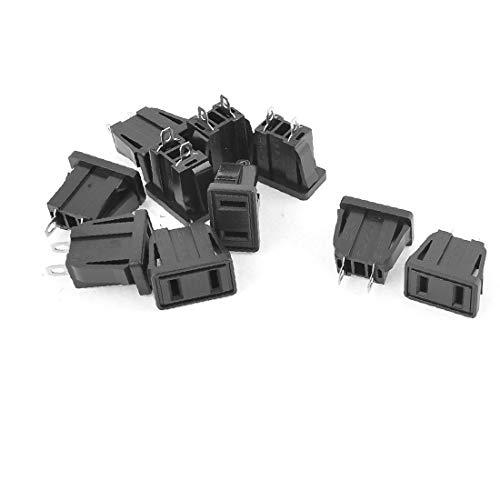 X-DREE 10 Unidades 2 Pin plano EE. UU. Enchufe Toma de corriente Adaptador Socket Negro SS-6C(10 Pcs 2 f-lat P-in p-lug Presa di corrente Adattatore Nero SS-6C