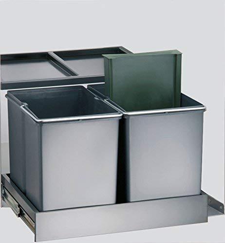 Wesco Trio Shorty 515417 Poubelle automatique 1 x 15, 2 x 7,5 l