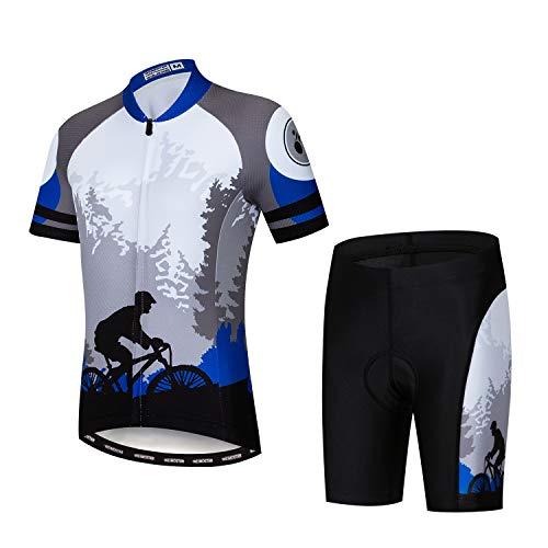 Fahrradtrikot Set für Kinder, kurzärmeliges T-Shirt, Cartoon-Top, schnelltrocknend, S-XXL L CD2067