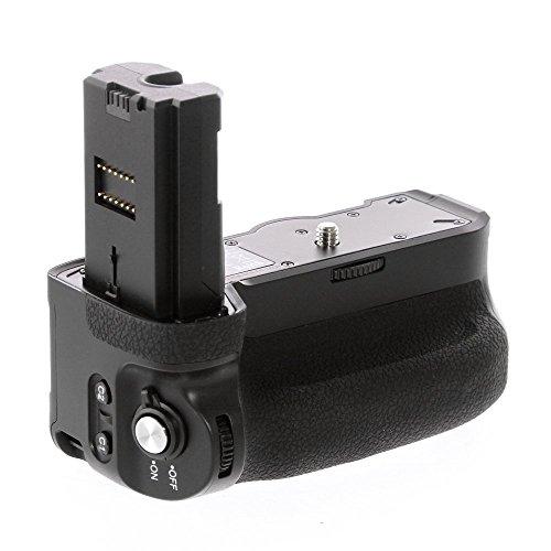 Meike MK-A9PRO Batterie Griff Halter + Fernbedienung für Sony A7III A7RIII A9, Eingebaute 2,4 GHz Fernbedienung bis zu 100M, Vertikale Aufnahme, Kompatibel mit NP-FZ100 Akku, Ersatz von Sony VGC3EM