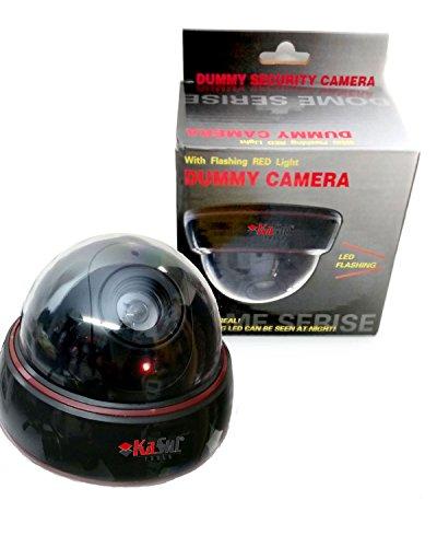 KaSul®Germany| 1x Real Dummy Atrappe Kamera *Rote Blink LED* Dome Überwachungskamera