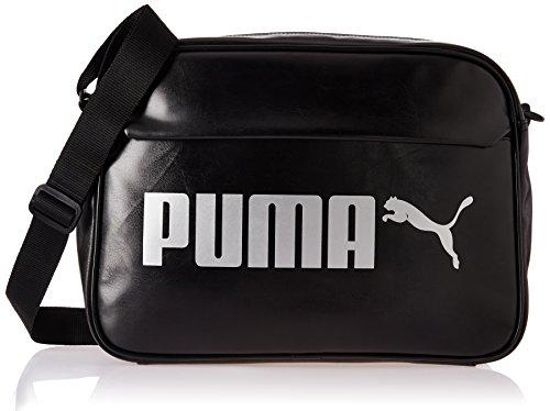 PUMA Campus Reporter PU Tasche, Black, 46x29x2.3 cm