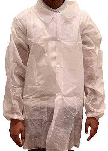 Disposable Lab Coats, Child/Youth/Kids, 12 Pack (Youth Medium)