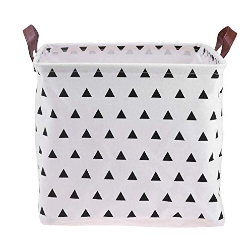 SEESEE.U Laundry Baskets Collapsible,White Triangle Foldable Laundry Basket Storage Basket Storage Barrels For Kids Sundries Toys Holder Container Basket Organizer Bag