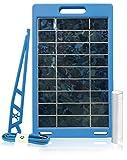 White Kaiman Solar Panel Mobile Device Charging System (Pro Kit w/Bank)