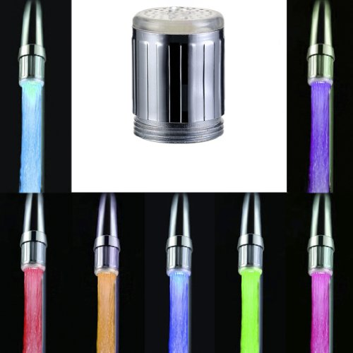 MagiDeal LED Licht Wasserhahn Armatur Spültischarmatur Küchenarmatur mit 7 Farben - 7