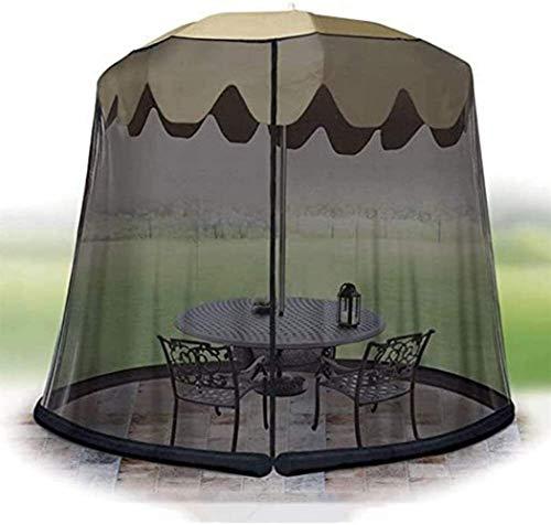 YYCHJU Cubierta De Red Anti Mosquitos Ajustable Paraguas Parasol Red convertidor Cubierta convertir su sombrilla en un Gazebo
