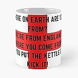 We're from England England Euro 2020 - Tazza da caffè in ceramica bianca 11 Oz 15 Oz Que Je Personalise!