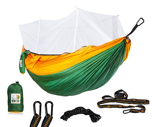 Ryno Tuff Camping Hammock with Mosquito Net - Double Hammock with Bug...