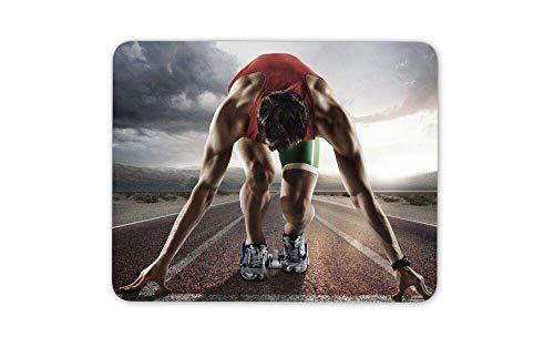 Mauspad Leichtathletik Läufer Olympia Mauspad Pad - Active Sport Geschenk Mousepad für Laptop Desktop Computer Bürobedarf Mauspad