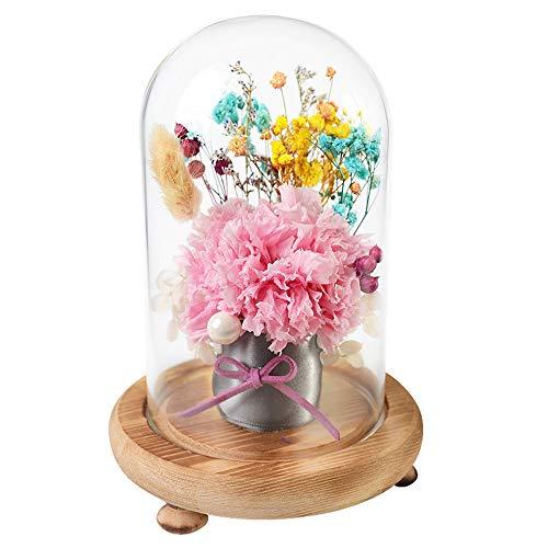 Rose Jabón Flor en Caja de Regalo Miracle Rose and Heart Charm - Preserve The True Rose - La única Forever Rose - Dura por muchos años - Un regalo romántico para ella Para mujeres Teen Girls Mom Chris