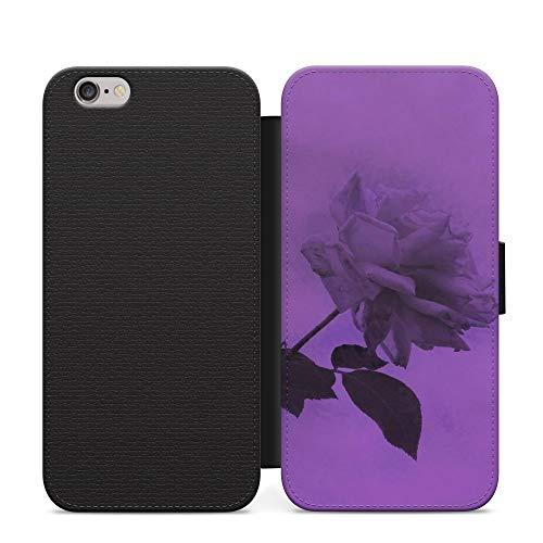Lusty - Funda de piel sintética para iPhone 11, diseño de flores, color morado