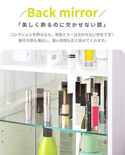 PaletteLifeパレットライフコレクションケースシェルフ3段ガラスケース収納コレクションシェルフフィギュアケースコレクションボード(グレー/3段タイプ)